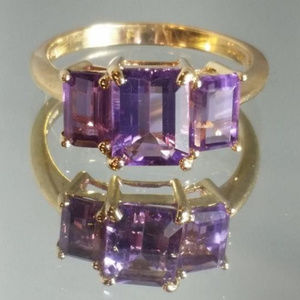 Jewelry - 10k stamped genuine Amethyst ring! Size 8